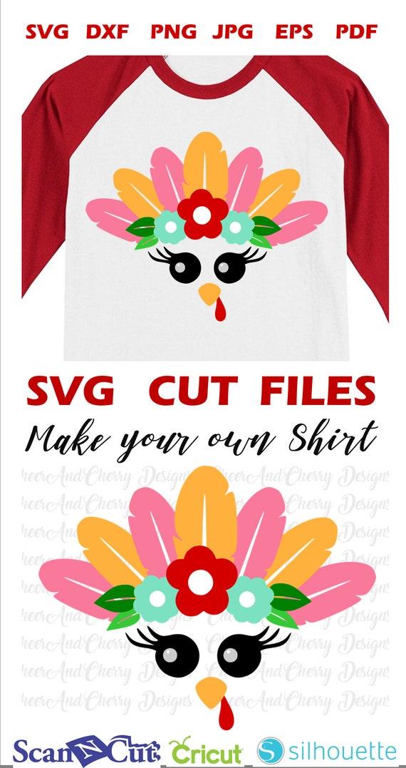 1c36fd09 Cute turkey face SVG Thanksgiving SVG file for Cricut   Etsy