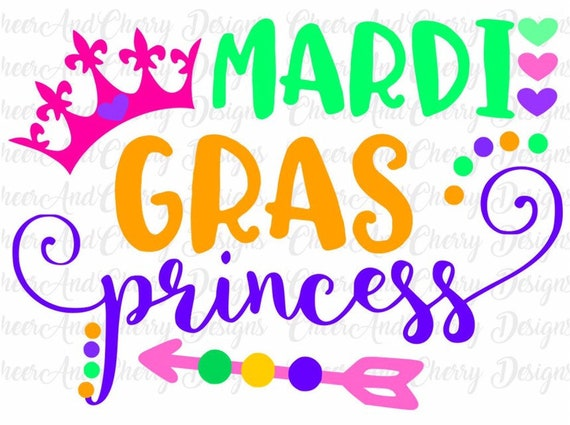 Mardi Gras Princess Svg For Mardi Gras Svg File For Cricut Fat Etsy
