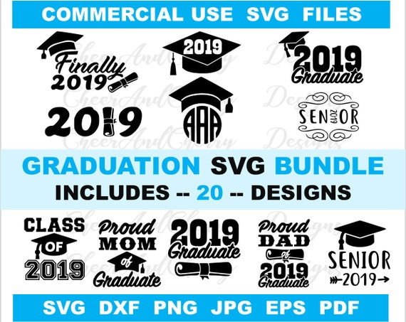 graduation svg bundle designs svg dxf png cut files for