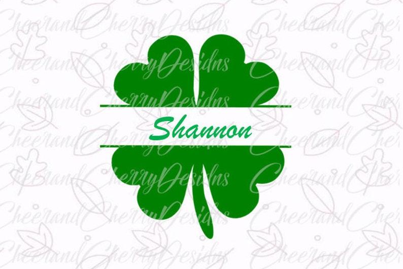 60826f2a3 Monogram Shamrock SVG St Patricks day Svg Shamrock SVG cut | Etsy