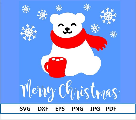 Frohe Weihnachten Philippinisch.Frohe Weihnachten Svg Susse Eisbar Svg Weisser Bar Svg Fur Druckbare Weihnachtskarte Schneiden Weihnachten Datei Silhouette Cricut Weihnachten Vektor