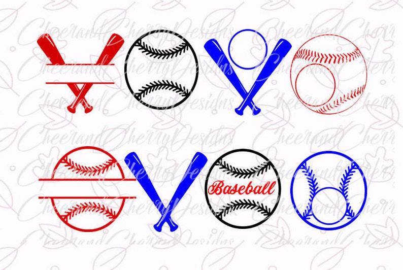 Baseball Monogram SVG Baseball Svg Dxf Baseball split Monogram SVG baseball bundle SVG Silhouette Cameo Cricut Cut Files Scrapbook Clipart