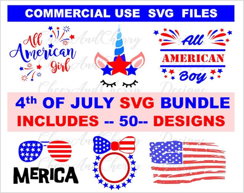 4th of july svg bundle USA Flag Monogram Summer clipart image 0