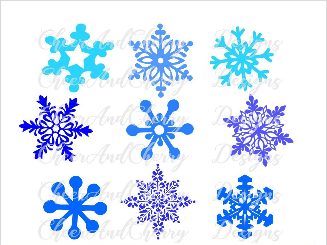 Schneeflocke Svg für Weihnachten SVG Design Schneeflocken   Etsy