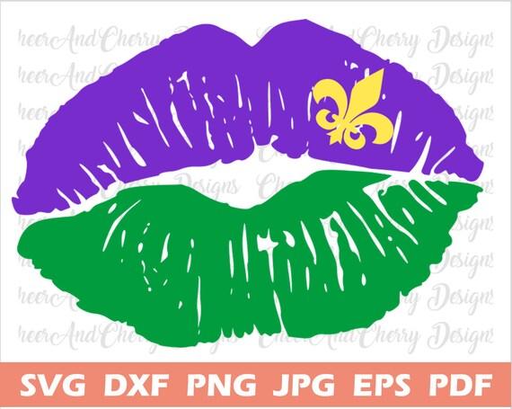 Mardi Gras Lips Svg Files For Cricut Silhouette Iron On Mardi Etsy