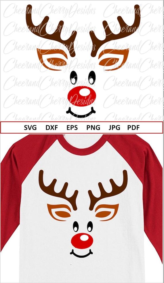 View Reindeer Monogram Svg, Christmas Boy Monogram Svg, Reindeer Face With Bow, Svg, Reindeer Boy Svg, Reindeer Svg File, Kids Christmas Svg, Dxf PNG