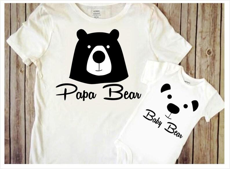ca5bf1111ed5 Papa Bear SVG DIY Fathers day gift svg Baby bear svg Dad cut