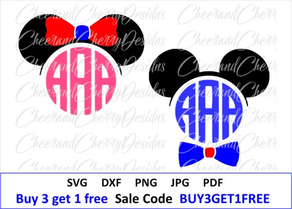 Disney Svg Disney Monogram Svg Minnie Mouse Svg Mickey Etsy