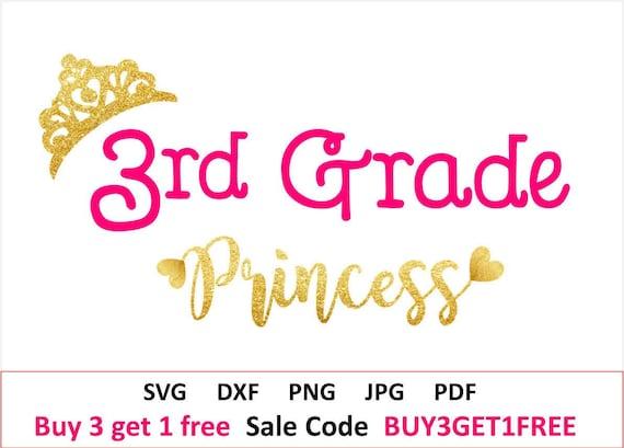 Third Grade Svg For Girl Third Grade Graduation Svg Dxf 3rd Etsy