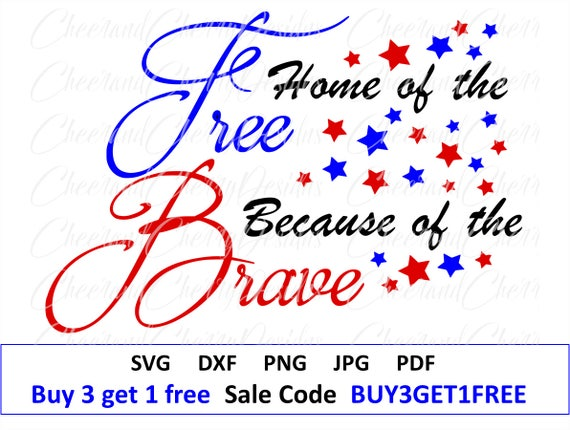 Veterans Day Svg 4th Of July Svg Home Of The Free Svg Etsy