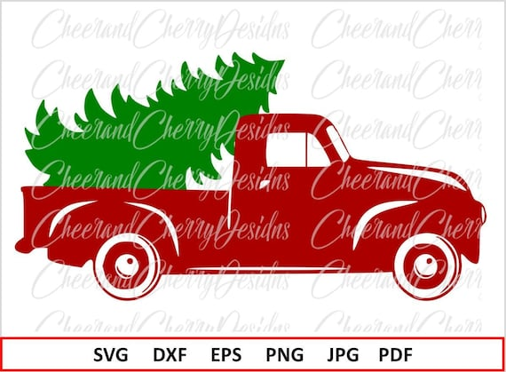 Christmas Truck Svg.Christmas Truck Svg Christmas Svg File Silhouette Christmas Tree Svg For Cricut Red Truck Svg Christmas Truck With Tree Svg Vinyl Clipart