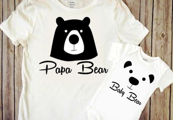 Papa Bear Svg Baby Bear Svg Christmas Gift For Dad Svg Diy Etsy