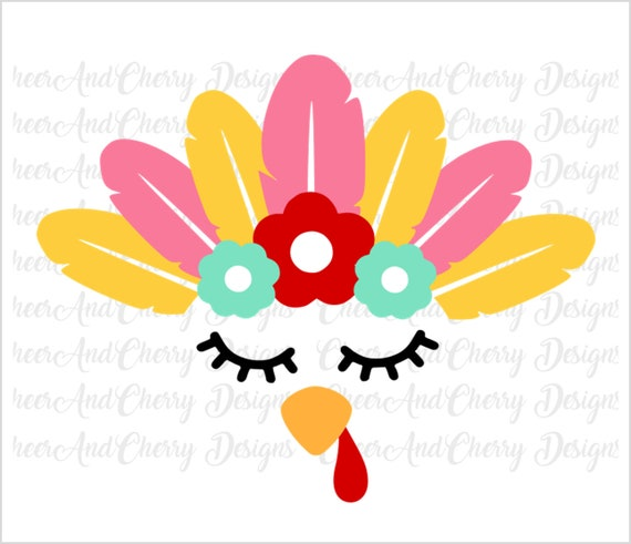 Girl turkey face SVG for Thanksgiving SVG Turkey Svg file ...