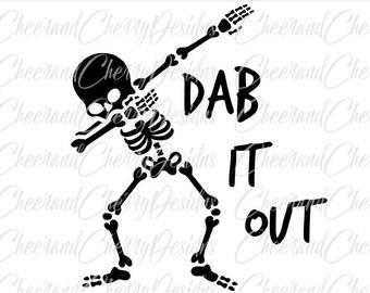 Halloween SVG file Dabbing Skeleton Svg Dab Skeleton Svg Dab SVG Halloween Svg for boys Halloween EPS Dxf Silhouette Svg for Cricut cut file
