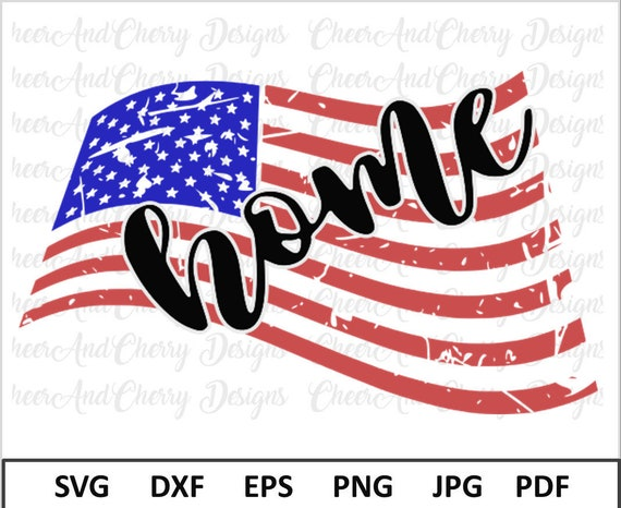 Distressed American Flag Svg For Silhouette Cameo Distressed Etsy