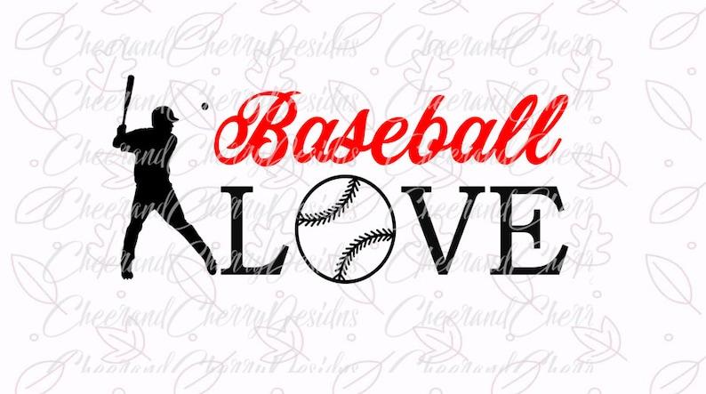 Baseball Love Svg Baseball Svg Files For Silhouette Svg Files Etsy
