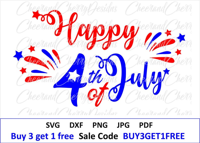 Happy 4th Of July Svg Patriotic Svg America Dxf Independence Etsy