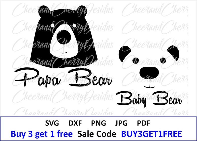 Papa Bear Svg Baby Bear Svg Fathers Day Svg Costume Diy Gift Etsy