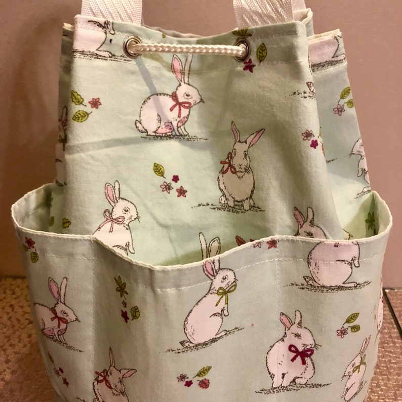 Bunny rabbit drawstring backpackduffle bag baby changing bag. Children\u2019s bag