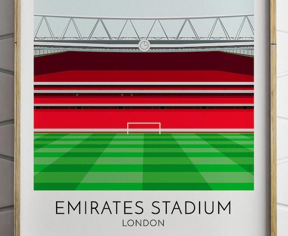 Arsenal Emirates Modernes Print Poster Fussballstadion Arena Stadion Stadio Calcio Geschenk Fur Ihn