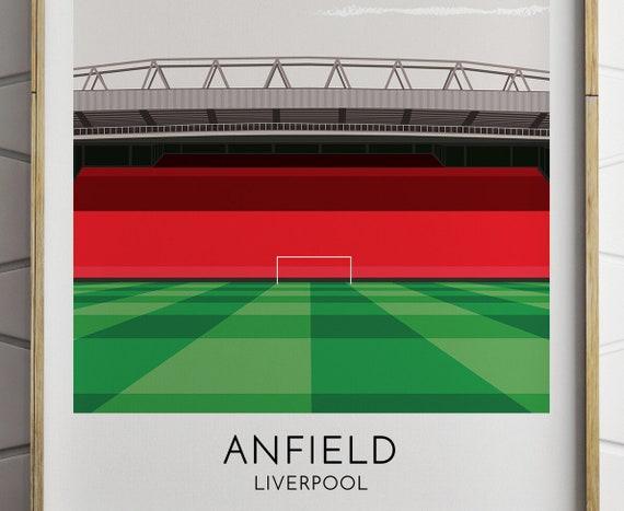 Fc Liverpool Anfield Modernes Print Poster Fussballstadion Arena Stadion Stadio Calcio Fussball Voetbal