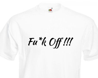 Funny Novelty T-Shirt Mens tee TShirt Solid Black Frankie Says F*ck Off T52