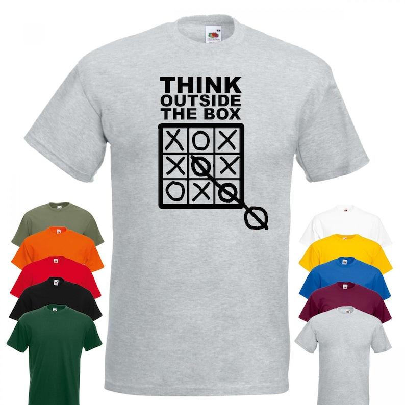 Think outside the box T shirt Funny business entrepreneur Motivational Unisex