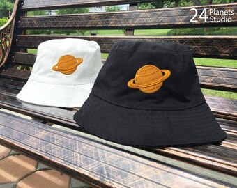 fb939367234 Saturn Copper Vintage Style Embroidered Bucket Hat by 24PlanetsStudio