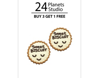 2 of mini Sweet Biscuit Iron on Patches by 24PlanetsStudio