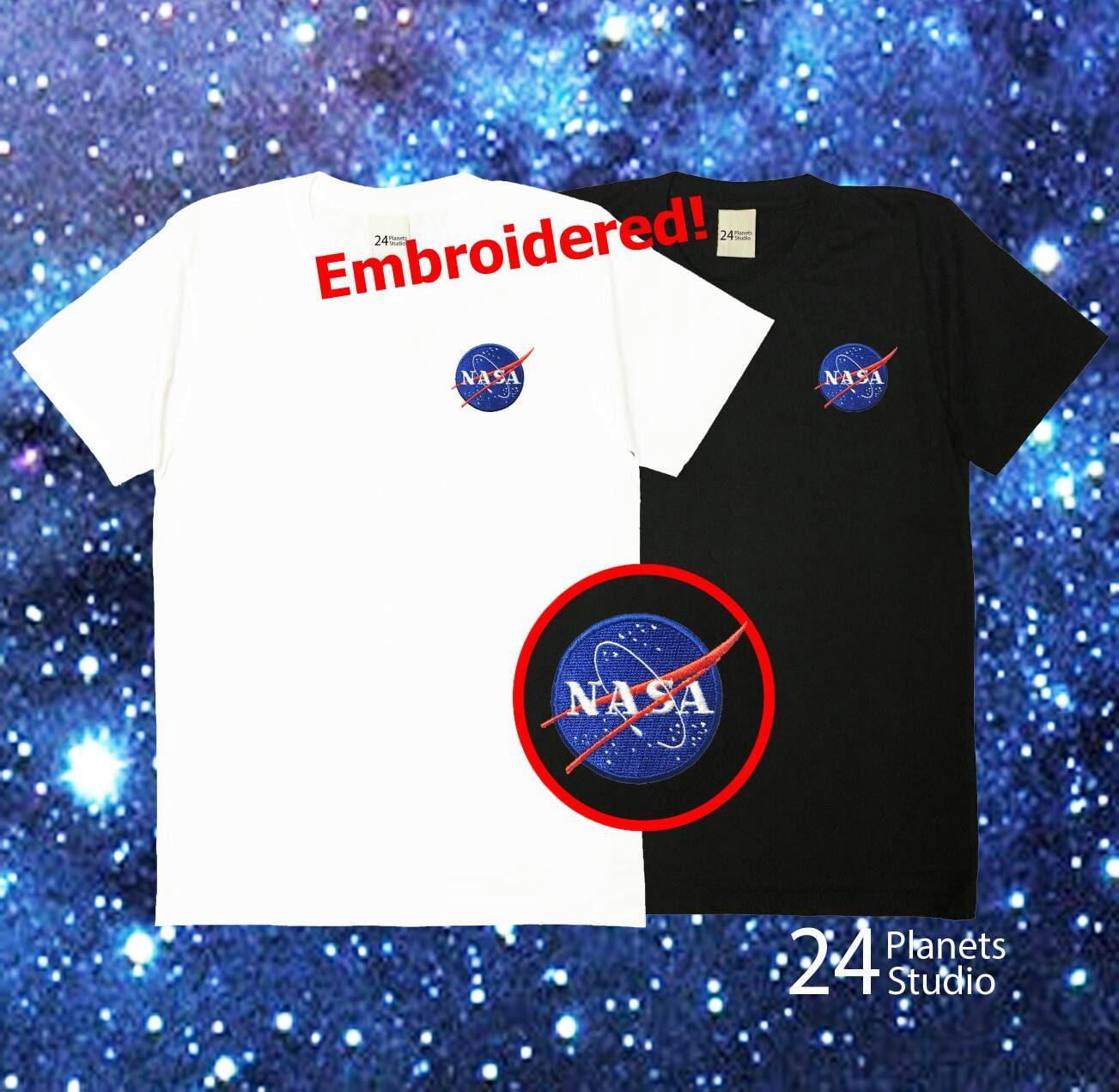 NASA 24PlanetsStudio poche Tshirt Tumblr Tee Shirt homme unisexe NASA Shirt Tee femme la NASA Tee peigne coton à broder T-Shirt e706cb