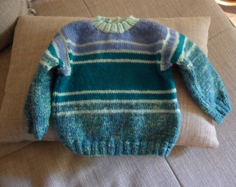 pretty striped sweater for baby