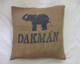 Recycled coffee sack cushion cover