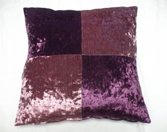 Patchwork Chenille cushion cover