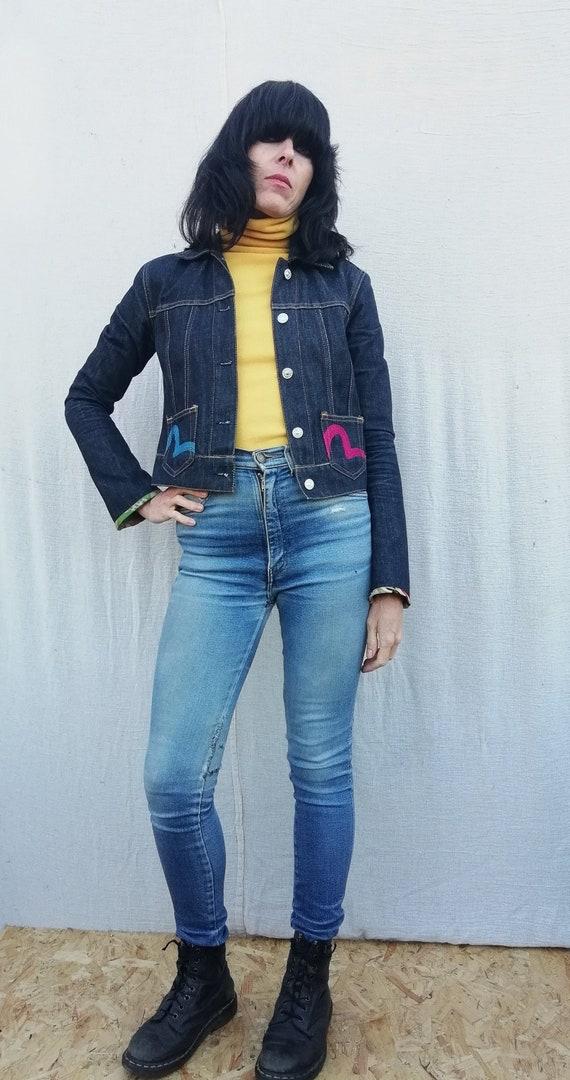 Evisu designer denim jacket
