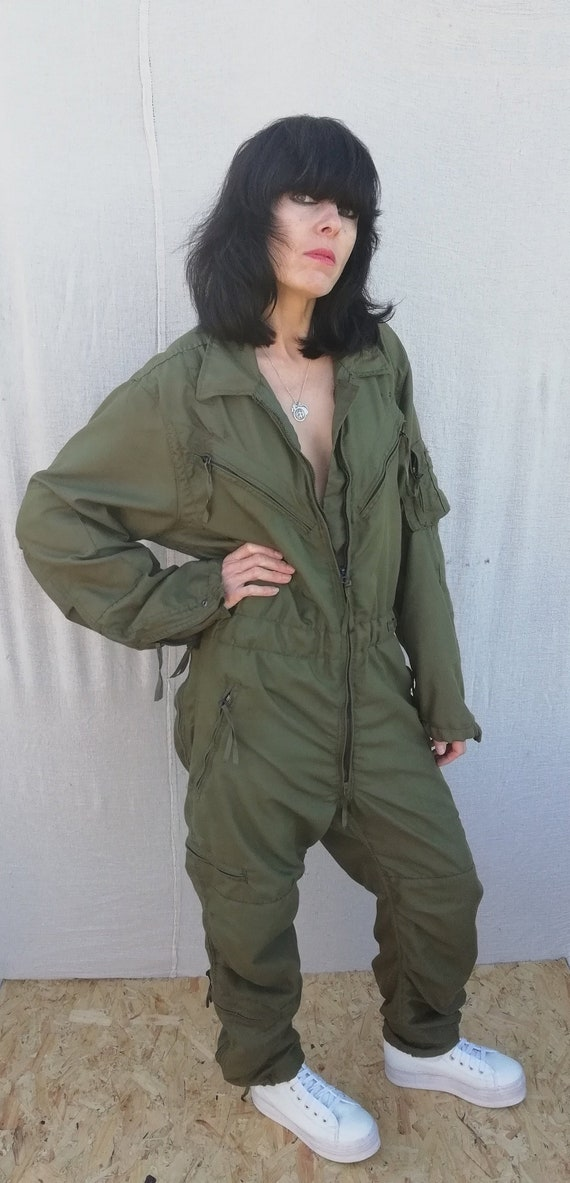 Vintage mens military khaki green oversize flights
