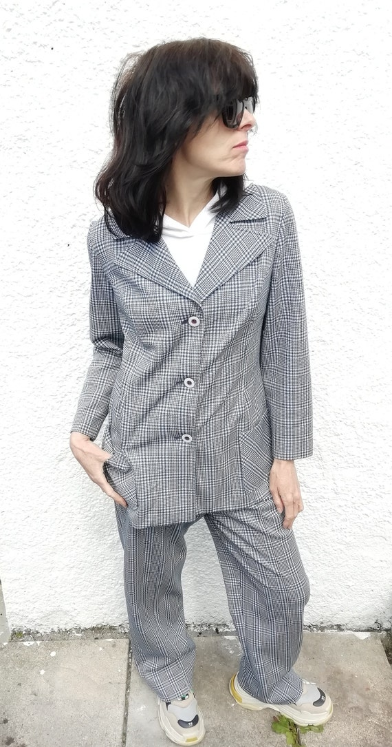 1960s checked co-ord  two piece ladies suit