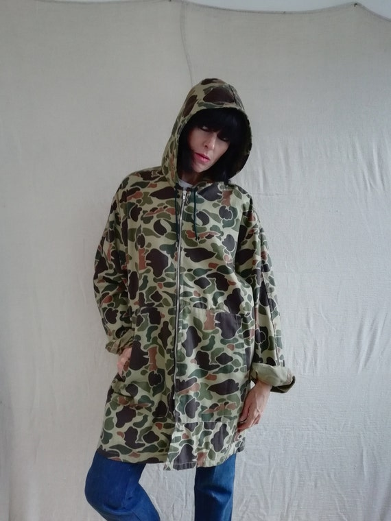 Womens/mens camouflage military hooded parka/ coat