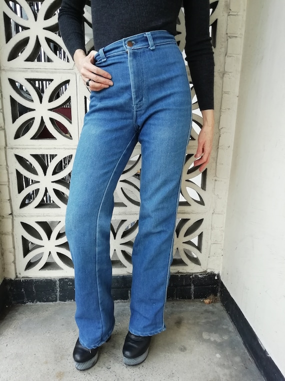 70s/80s vintage high waisted flared denim jeans