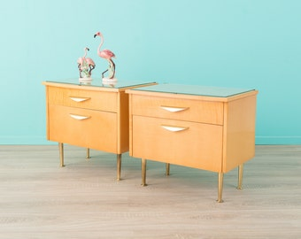 60s bedside tables, chest of drawers, 60s, vintage