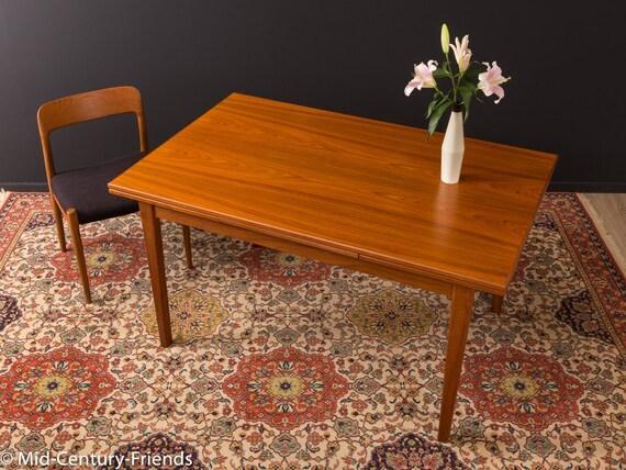 Teak Esstisch Tisch 60er Vintage Etsy