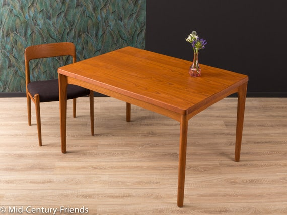 Teak Esstisch Tisch 60er Vintage 703026 Etsy