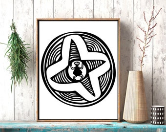 Spider to print, Black white new Mexican, Spider lover, New Mexican folk art, Black spider print, New Mexican art print, Spider printable