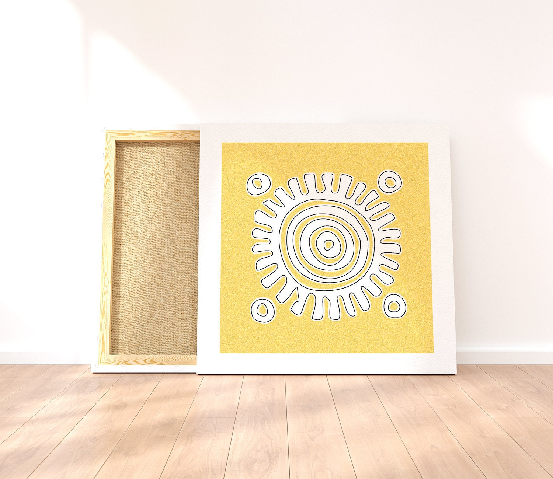 Sun wall decor to print on demand sun art print for nursery | Etsy