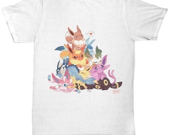 Pokemon Tshirt! EEVEE EVOLUTIONS POKEMON Tshirt! Glaceon, Leafeon Sylveon,  Eevee, Flareon, Jolteon, Espeon, Umbreon, Vaporeon Pokemon Go