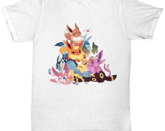 43fe93477 Pokemon Tshirt! EEVEE EVOLUTIONS POKEMON Tshirt! Glaceon, Leafeon Sylveon,  Eevee, Flareon, Jolteon, Espeon, Umbreon, Vaporeon Pokemon Go