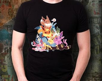 4e85bf01 EEVEE EVOLUTIONS POKEMON Unisex Tshirt Glaceon, Sylveon, Eevee, Flareon,  Jolteon, Leafeon, Espeon, Umbreon Vaporeon Pokemon Go Treasure Tee!