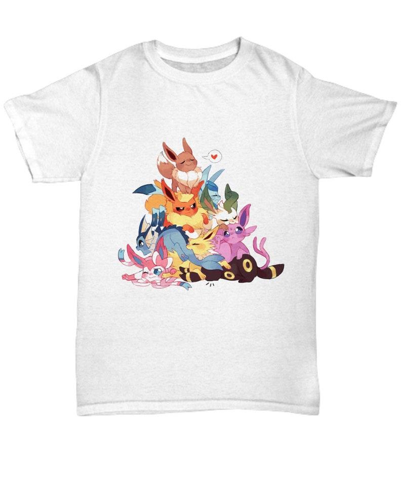 e588e48c Pokemon Tshirt EEVEE EVOLUTIONS POKEMON Tshirt Glaceon   Etsy
