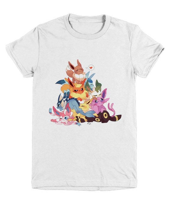 e15f7029 EEVEE EVOLUTIONS POKEMON Youth/Child Tshirt Glaceon Sylveon | Etsy