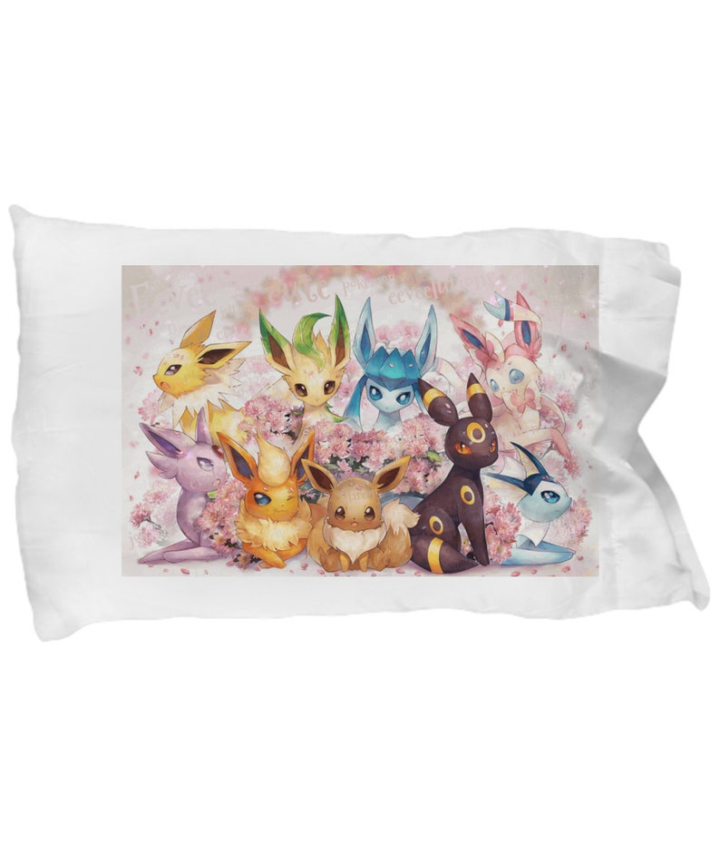 474409f2 EEVEE Pokemon Pillow Case Decoration Extra Soft & Cute Room | Etsy