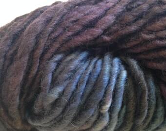 Handspun Art Yarn, Hand dyed yarn Art Yarn, Purple and Blue yarn